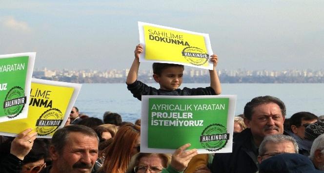 Konyaaltı Sahil Projesi protesto edildi
