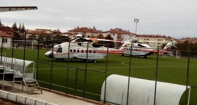 Cumhurbaşkanı Erdoğan'ın helikopteri Zile'ye iniş yaptı