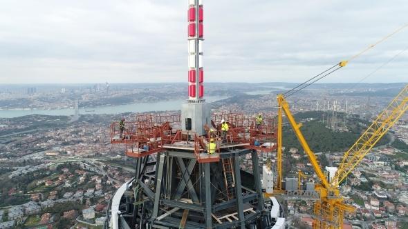 Son durumu havadan görüntülendi! Eyfel Kulesi'nden daha yüksek olacak...