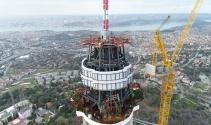 Çamlıca Kulesi'ndeki son durum havadan görüntülendi