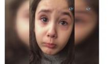 Minik kız, Cumhurbaşkanını göremeyince gözyaşlarına boğuldu