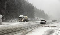 Bolu Dağında yoğun kar