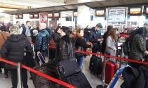 Atatürk Havalimanında karne tatili yoğunluğu