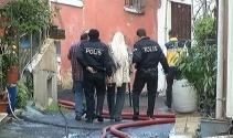 Akli dengesi bozuk vatandaş evini yaktı