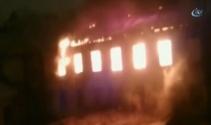 Rusya Askeri Deniz Akademisinde yangın