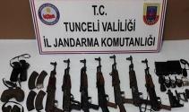 Tuncelide PKKnın silah deposu ele geçirildi