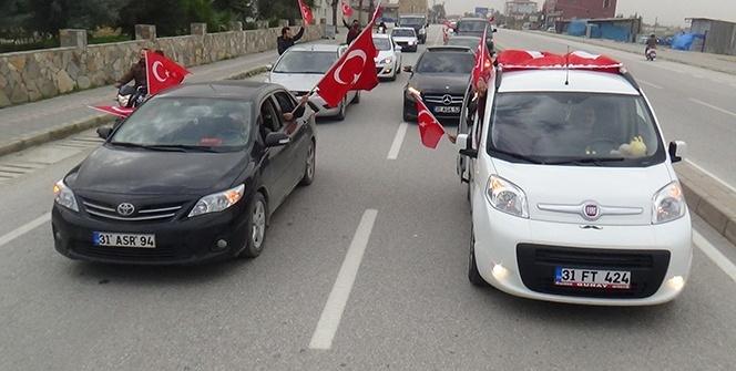 Hatay'da Afrin'de görev yapan askerlere destek konvoyu
