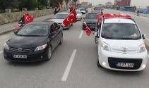 Hatayda Afrinde görev yapan askerlere destek konvoyu