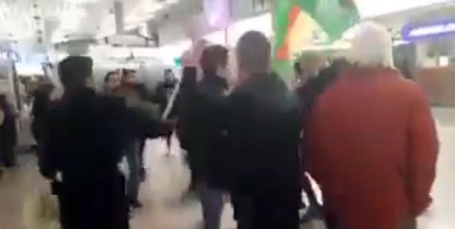 Almanya'da terörist gruba Türk vatandaşlarından tekme tokat dayak