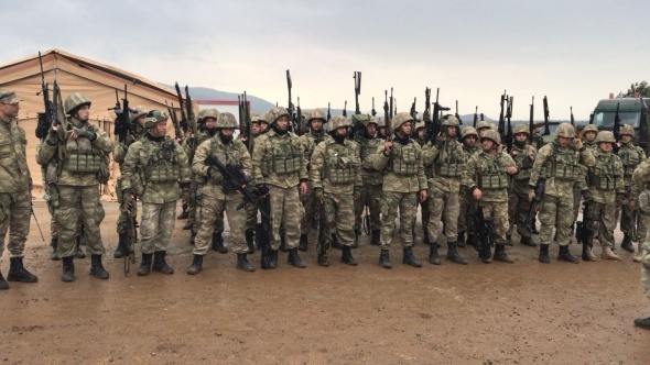 Komandoların Afrin hazırlığı