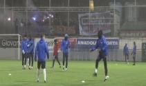 Trabzonspor yağmur altında çalıştı !
