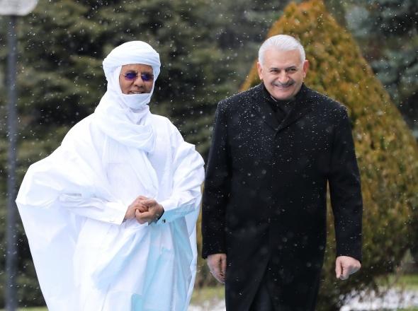 Başbakan Yıldırım, Nijer Başbakanı Rafini'yi resmi törenle karşıladı