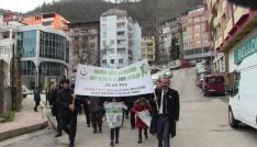Artvinde kansere karşı yürüyüş düzenlendi