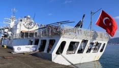 Rizeye Sahil Güvenlik Komutanlığına bağlı  TCSG DOST Arama Kurtarma Gemisi demir attı