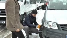 Artvinde ulaşıma kar engeli