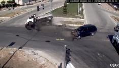 Aceleci sürücü kazaya neden oldu
