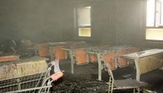 Çankırı Karatekin Üniversitesinde korkutan yangın
