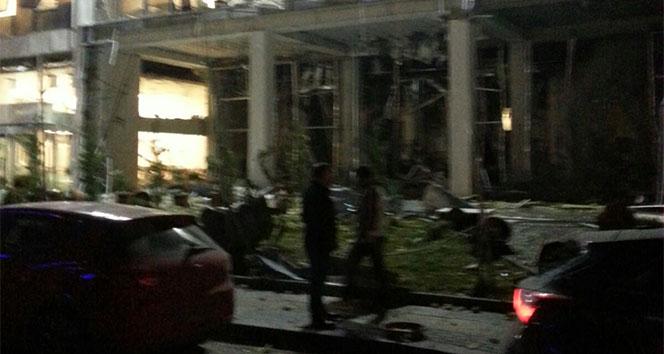 Ankarada vergi dairesinde doğalgaz patlaması oldu