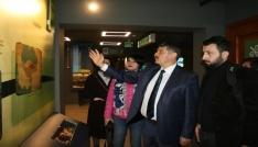 Başkan Akın basın mensupları ile müzeyi gezdi