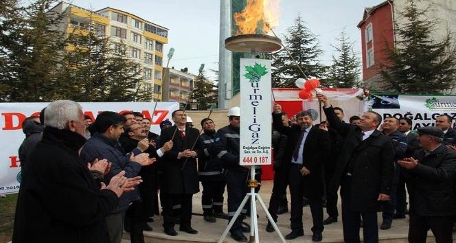 Sarıkaya'da evler doğalgazla ısınmaya başladı