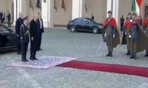 Cumhurbaşkanı Erdoğan, Roma'da resmi törenle karşılandı