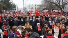 Çankırılı kadınlardan Afrindeki Mehmetçiğe destek mitingi