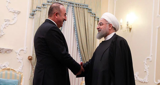 Dışişleri Bakanı Çavuşoğlu, İran Cumhurbaşkanı Ruhani ile görüştü