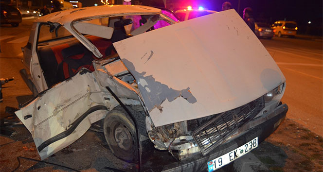 Sungurluda iki otomobil çarpıştı: 2si ağır 3 yaralı