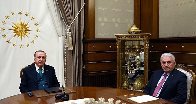 Cumhurbaşkanı Erdoğan, Başbakan Yıldırım'ı kabul etti !
