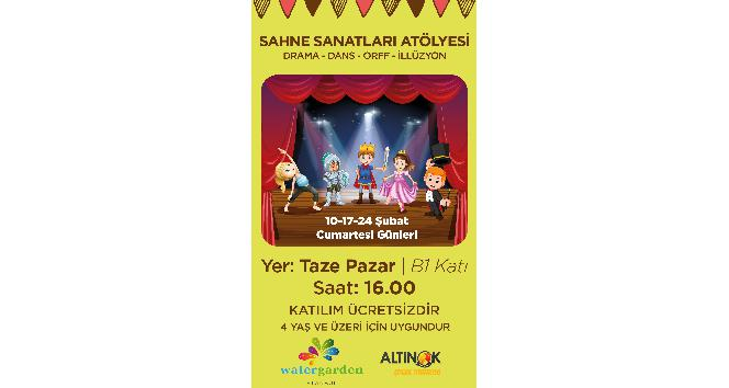 Ataşehir'de çocuklar sahne sanatları atölyesinde eğlenerek öğrenecek