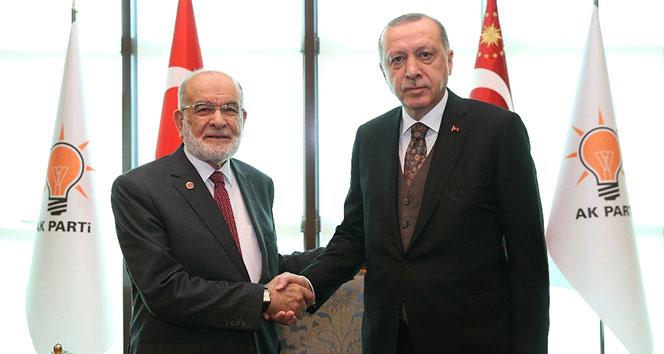 Erdoğan, Saadet Partisi Genel Başkanını kabul etti