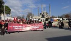Edirneden Zeytin Dalı Harekatına destek yürüyüşü