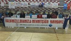Ağrıda sporculardan Mehmetçiğe anlamlı destek