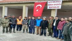Kırşehirin Kaman İlçesinde avcılar domuz avına çıktı