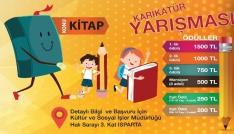 Ispartada Kitap konulu karikatür yarışması