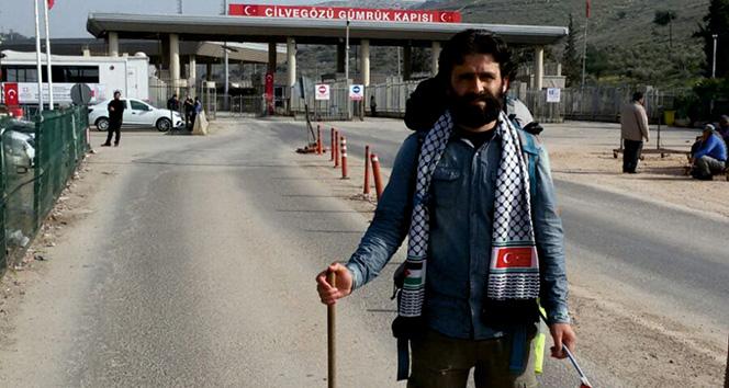 Filistindeki zulme dikkat çekmek için 54 gün yürüdü