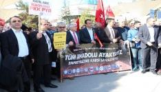 Tokatlı memurlardan Mehmetçiğe eylemli destek