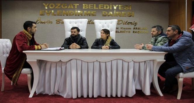 14 Şubat'ta Yozgat'ta 4 çift dünya evine girdi