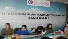 DAKAdan Hakkaride gençlerle  11. Kalkınma Planı il istişare toplantısı