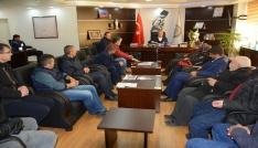 86 Konutlar Sitesinin hak sahiplerinden Başkanı Acara teşekkür ziyareti
