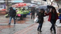 Edirnede sağanak yağış