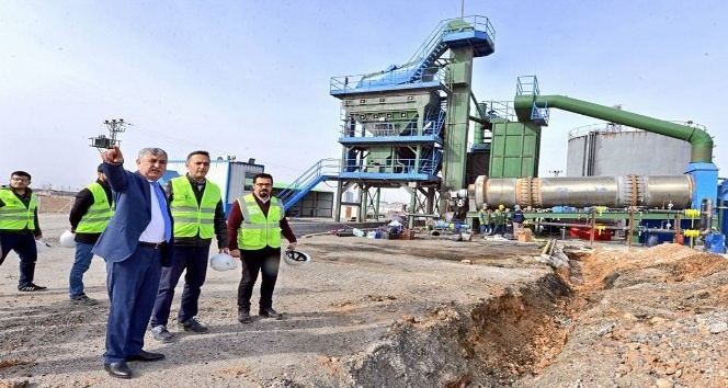 Bu yıl hedef 100 bin ton asfalt üretimi