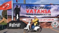 Giresun Belediyesinden Afrinde ki askerlere Sevgililer günü standı.