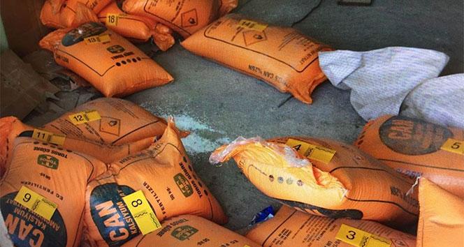 Hakkaride 950 kilogram amonyum nitrat maddesi ele geçirildi