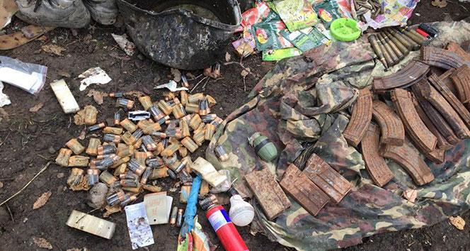 Şırnakın Cudi Dağında 2 mağara ve bir barınak imha edildi