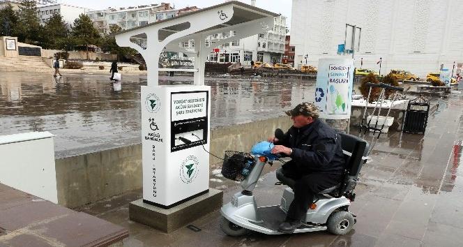 Yozgatta engelliler için şarj dolum istasyonu açıldı