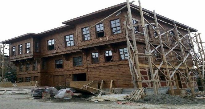 Tarihi mahallede Vali konağı inşaatı bitmek üzere