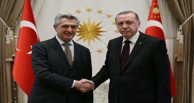 Cumhurbaşkanı Erdoğan, BM Mülteciler Yüksek Komiserini kabul etti