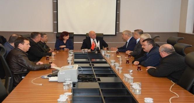 Başkan Eşkinat DİSK Genel Başkanı Beko'yu ağırladı