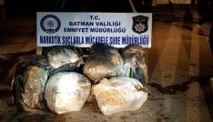 Dur ihtarına uymayan araçta 105 kilo uyuşturucu çıktı